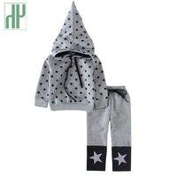 Ropa de niños sets Estrella Impreso muchachos de la ropa de abrigo con capucha del chándal para niños boutique kids primavera otoño traje de navidad