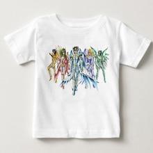 Camiseta de personajes de All Star de Saint Seiya para niños, diseño de la camiseta de Manga, camiseta divertida de Anime