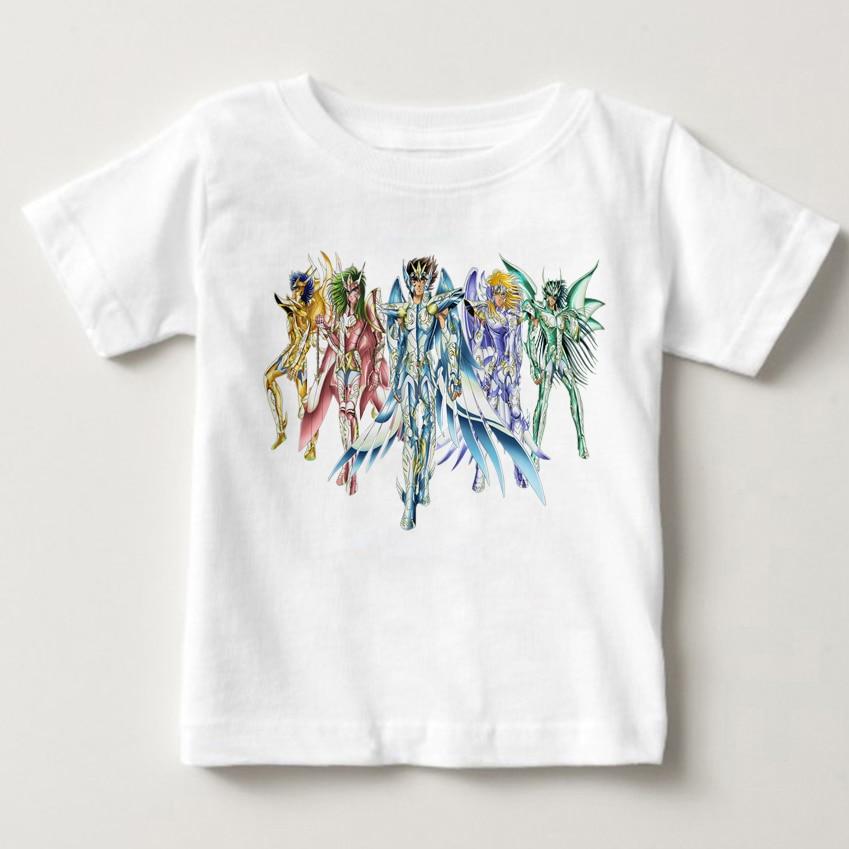 Gold Saint Seiya Character All Star T Shirt children summer tshirt Design Manga Anime T shirt Cool Novelty Funny TshirtT-Shirts   -