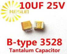 10 МКФ 25 В B тип 1210 3528 106E SMD Тантал Конденсатор Разъем TAJB106K025RNJ x100PCS Бесплатная Доставка