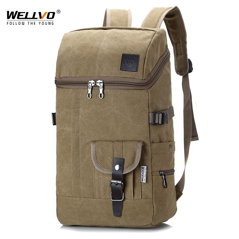 Men Huge Travel Bag Army Luggage Bucket Backpack Multifunctional Military Canvas Backpacks Large Shoulder Bags Back Pack XA3WC emacro for nonoise a8025h24b server square fan dc 24v 0 095a 80x80x25mm 2 wire