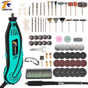 Image 1 - Minitaladro eléctrico de tungsteno, máquina giratoria pulidora, amoladora, Mini taladro, herramienta de potencia rotativa de velocidad Variable, grabador eléctrico