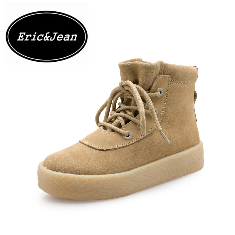 ФОТО Eric&Jean Women Riding Boots Luxury Designer Brand Military Crepe spring autumn winter lovers shoes plus size 35-44