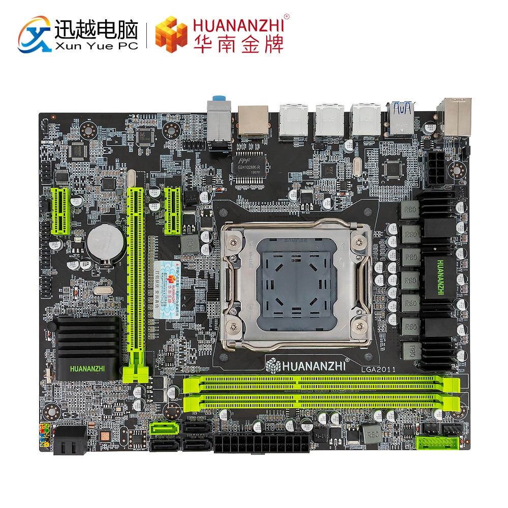 HUANAN ZHI X79-6M Motherboard X79 For Intel LGA 2011 E5 2660V2 2680V2 DDR3 1333/1600/1866MHz 32GB SATA3.0 USB3.0 M-ATX Mainboard