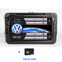 8 inch Car DVD Player GPS Radio for VW Passat CC Scirocco Golf 5/6 Tiguan Touran Polo Sharan Jetta Toledo