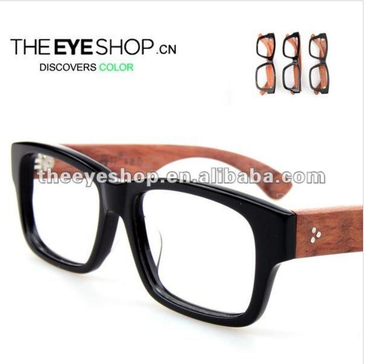 2015 new style eyeglasses fashion wood frame glasses h251 in eyewear frames from men 39 s clothing What style glasses are in fashion 2015