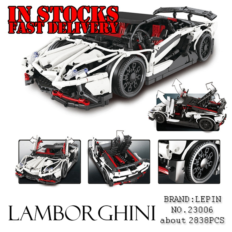 Lepin 23006 2838Pcs Technic Series The Hatchback Type R Set Building Blocks Bricks educational Toys for children Gift brinquedos black pearl building blocks kaizi ky87010 pirates of the caribbean ship self locking bricks assembling toys 1184pcs set gift