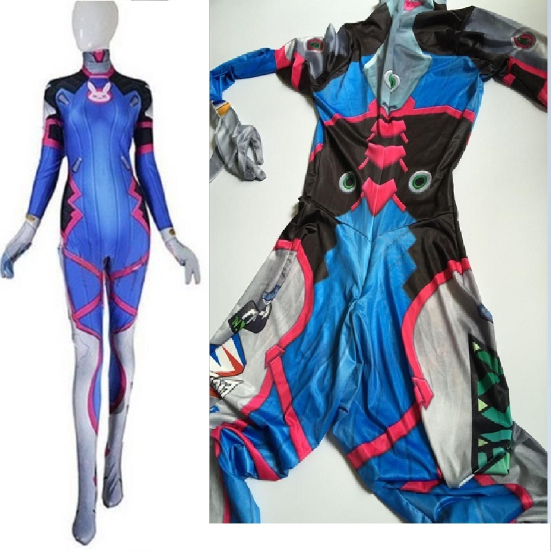 d.va cosplay dva halloween costumes for zentai suit women sexy jumpsuit spandex lycra catsuits bodysuit d va suit costume adult