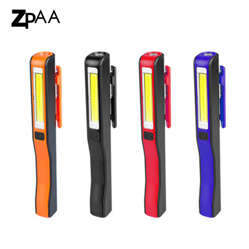 5pcs USB Rechargeable COB LED Magnetic Flashlight Penlight Inspection Work Lamp Light with USB Cable Built