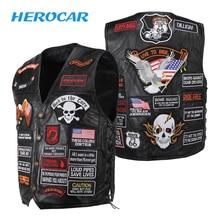 Motorcycle Jacket Man Vintage Genuine Leather Cafe Racer Retro Motorcycle Vest Clothing Bikes Motorbike Jacket Moto Jacket