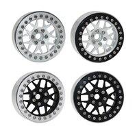 4pcs Aluminum Alloy 2.2 Beadlock Wheel Rims for 1/10 RC Crawler Traxxas TRX4 RC4WD D90 Axial SCX10 90028 90035 90046 90047 D110