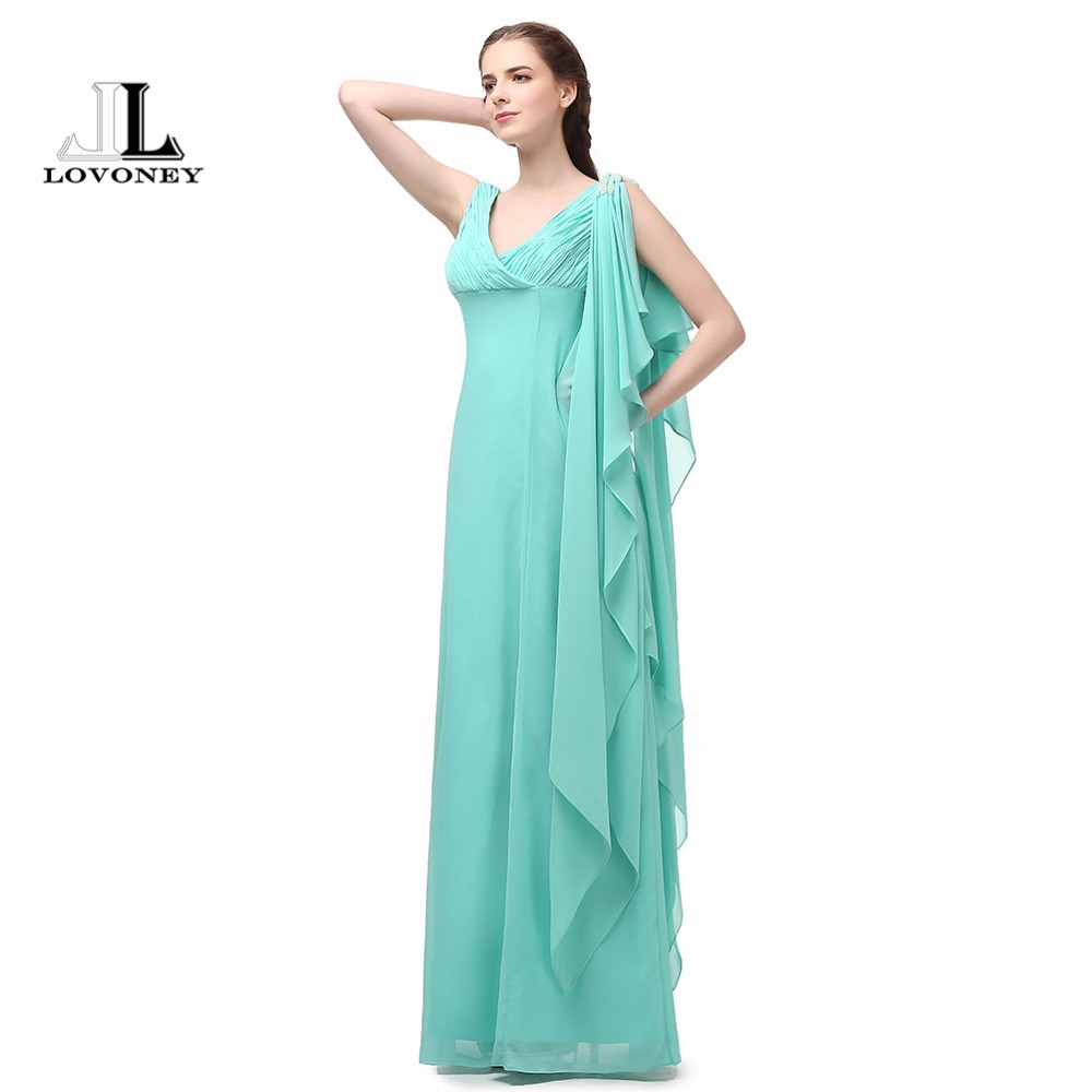 Compare prices on womens mint green bridesmaid dress online lovoney a line v neck adult mint green long bridesmaid dresses 2017 chiffon prom ombrellifo Choice Image
