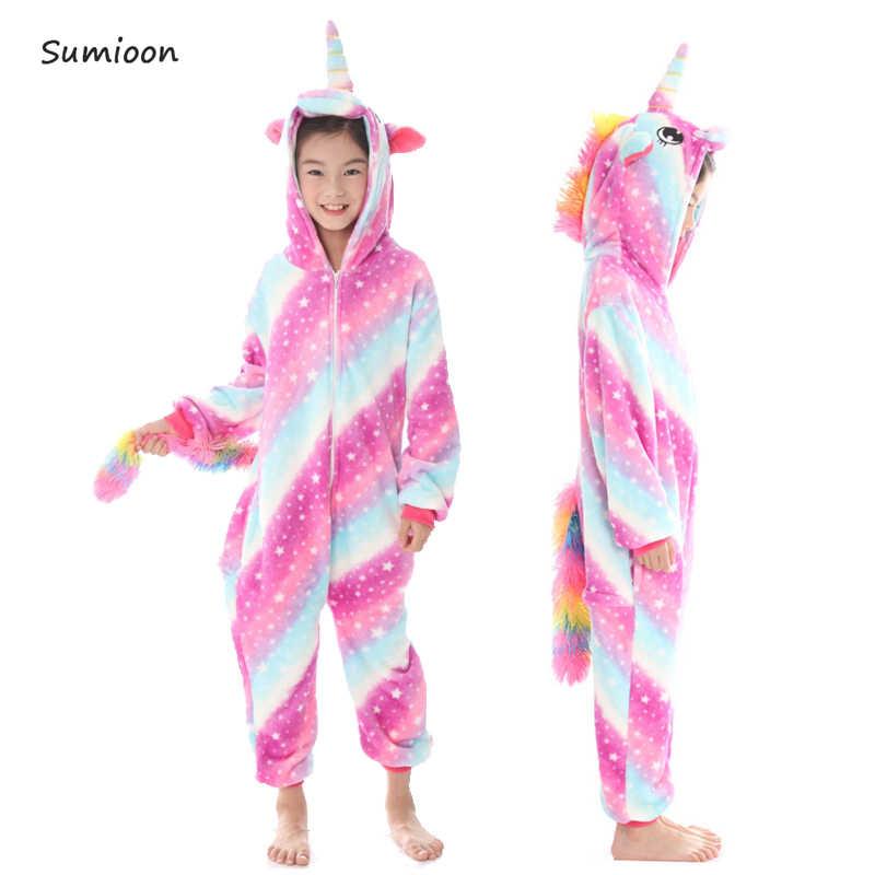 1b18cc97b5 Panda Kigurumi Animal mono niños pijamas de franela niños niñas invierno  Anime Cosplay fiesta ropa de