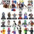 DC Marvel Супергероев Suicide Squad Харли Квинн джокер Катана Бумеранг Чародейка блоки Детские Игрушки Подарок