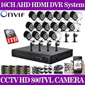 1080P 16CH CCTV Security Camera System 16 channel DVR 800TVL Outdoor Day Night IR Camera Kit Color Video Surveillance System