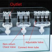 2/3/4Way Многофункциональный аквариумный воздушный Управление клапан разветвитель невозвратный воздушный клапан разделитель для воздушного насоса для аквариума