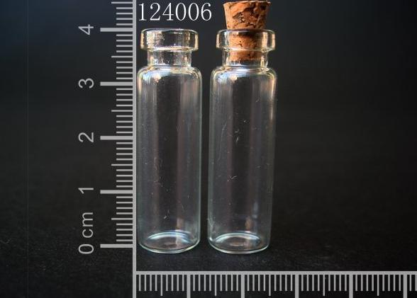 20 pcs 2.4ml 12x40mm Small Clear Glass Bottle Vial Pendant With Cork and Hook For Wedding Holiday Decoration Christmas Gifts