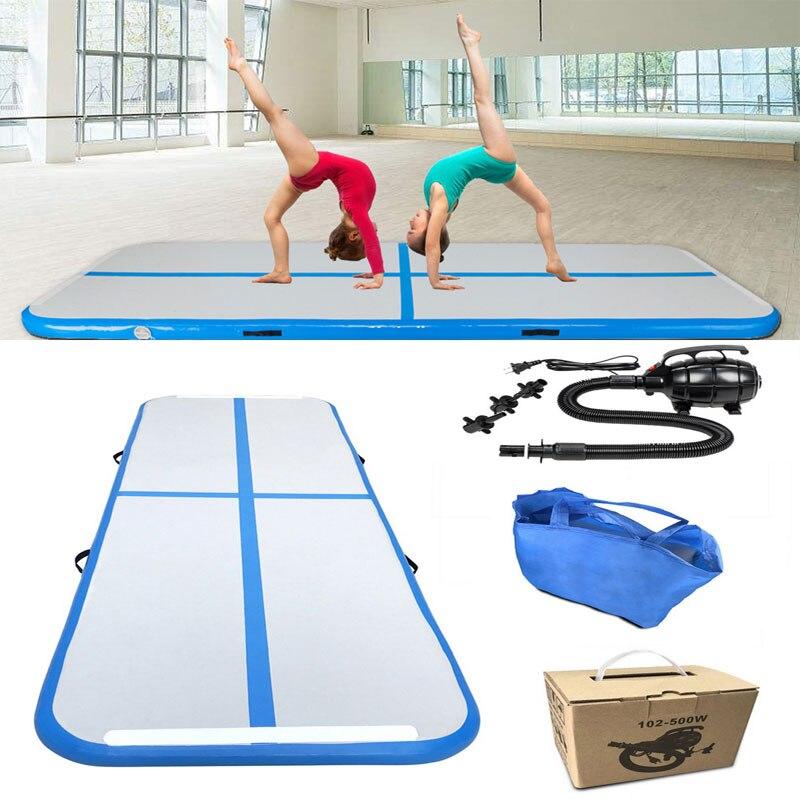 300x100x10 cm tapis de Yoga gonflables Airtrack Trampoline maison Gym gymnastique Air culbuteur tapis de sol avec pompe