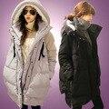 2016 одежды для беременных зима червь свободный плюс размер вниз хлопка-ватник средней длины утолщение ватные куртки верхняя одежда