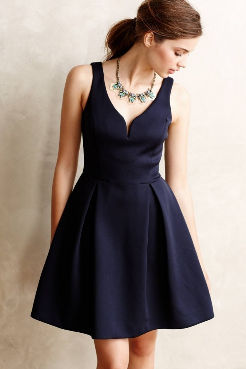 Satin Navy Blue Coctail Dresses Short For Party Cocktail 2017  Dress Elegant Fast Shipping robe vestidos de fiesta bal
