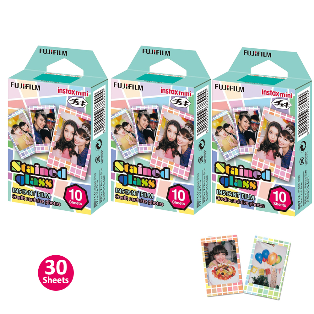 Fujifilm Instax Mini 8 Films Stained Glass 30 Sheets Photo Papers For Fuji Instant Film Camera Mini 7s 9 70 90 & Polaroid 300 fujifilm instax mini 90 neo classic camera film
