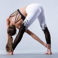 Trắng Đen Xà Cạp Chắp Vá Thể Thao Legging Tập Thể Dục Phụ Nữ Sexy Quần Workout Nữ Cao Eo Giản Dị Xà Cạp Jeggings