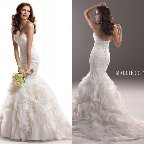 Long Wedding Dresses Corset Back Sleeveless Bridal Mermaid Backless ...