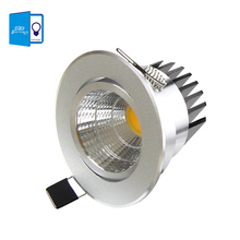 [DBF] Silver Ultra gorgeous LED COB Downlight AC 220V 7w  Recessed LED Spot Light Decoration Ceiling Lamp