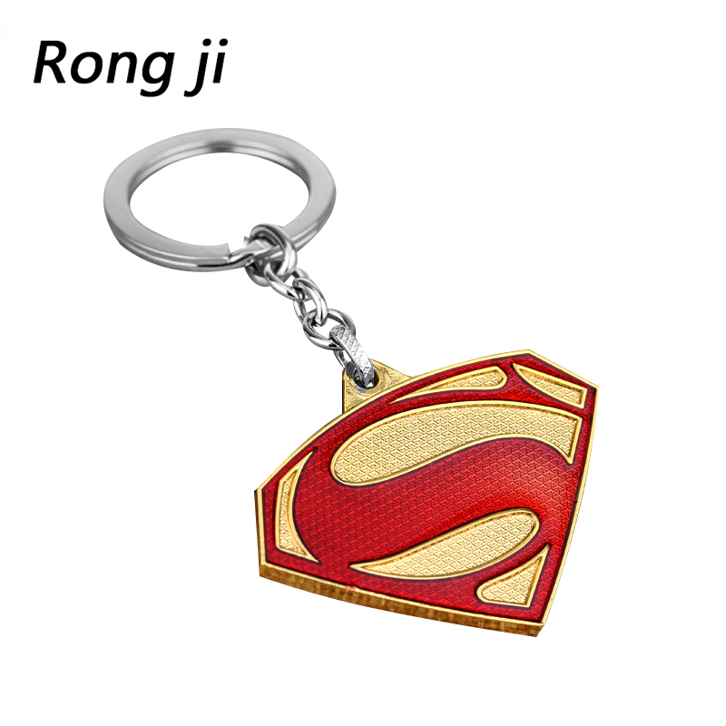 Weight 30g Superman S Logo Charm Keychain Men And Women Fashion Pendant Avengers 4 Jewelry Car Key Accessories