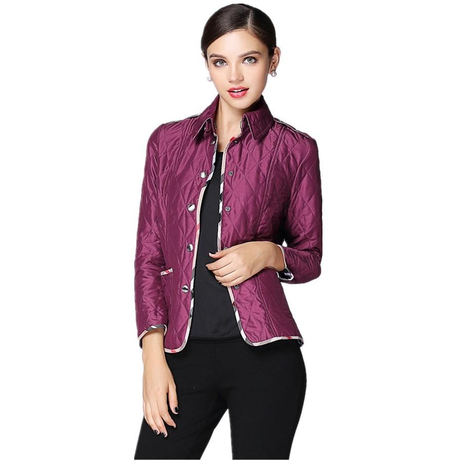 ФОТО 2016 Fall Winter New Arrival Women Parkas Coat Fashion Plaid Stitching Retro Coat Single Breasted Elegant Jacket Outerwear CT232