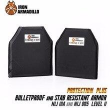 AA Shield Bullet Proof & Stab Proof Soft Body Armor Plate Aramid Core NIJ Lvl IIIA Stab Resistand Plate Level II 10×12#2 Pair