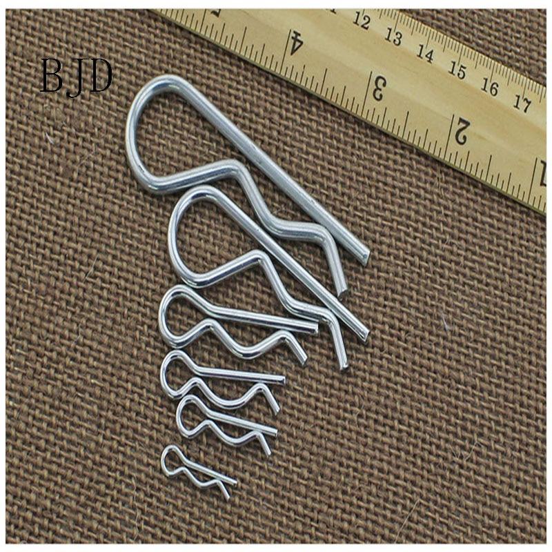 M1.2/M1.6/M2.5/M3 vague de split pin galvanisé acier Baïonnette Cotter pin fermé Alignement cotter vague B R arbre en forme goupille