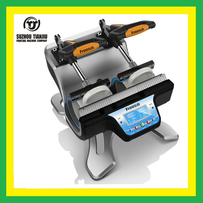 MINI Double station mug heat press machine mug heat transfer machine ST-210 цена