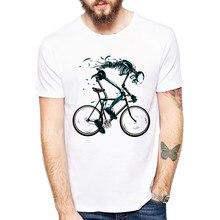 3cc05f219b6ee5 Zużyte rowery koszulki męskie śmieszne szkielet rower projekt z krótkim  rękawem koszulki z dekoltem w kształcie
