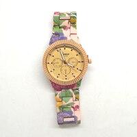 El más caliente floral impresión de la flor relojes de pulsera reloj de Ginebra del reloj de cuarzo hermosa relojes de pulsera de metal
