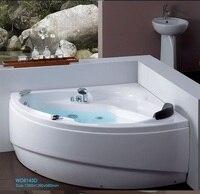 Fiber Glass Acrylic Whirlpool Bathtub Wall Corner MountedTriangular Apron Hydromassage Tub Nozzles Spary Jets Spa RS613D4