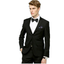 Handsome mens wedding suits formal occasion mens suits cultivate one's morality men's pure color suits two-piece(jacket+pants)