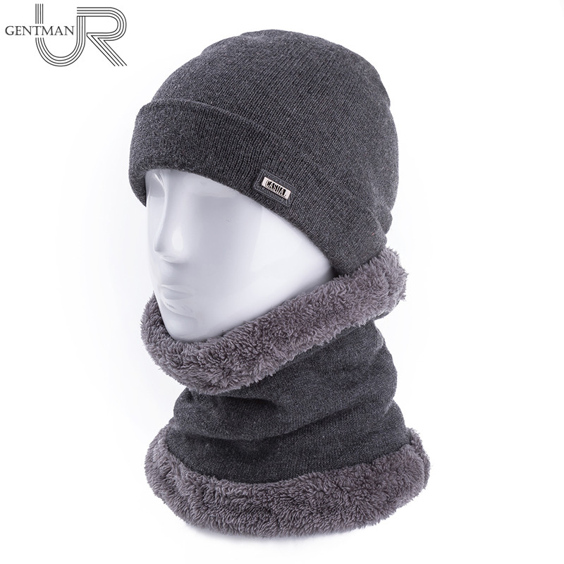 Unisex Knitted Hat And Neck Warmer Collar Fashion Artificial Fur ...