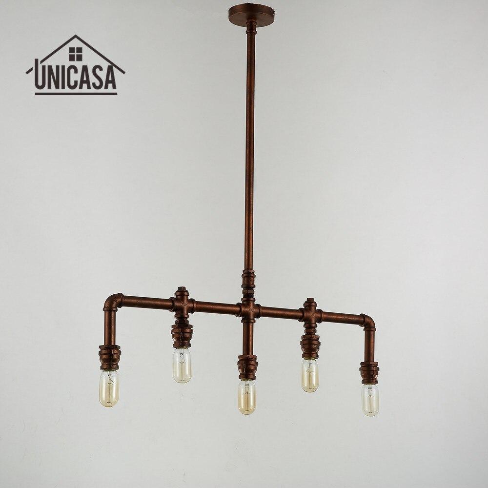 Wrought iron kitchen lighting - Wrought Iron Pendant Lights Vintage Industrial Lighting Office Bar Hotel Kitchen Island Light Antique Brown Pendant