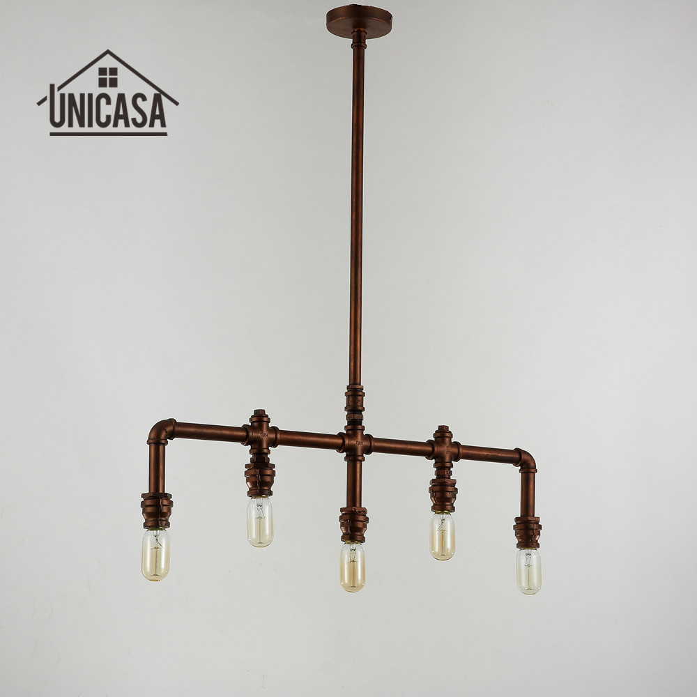 Wrought Iron Pendant Lights Vintage Industrial Lighting Office Bar ...