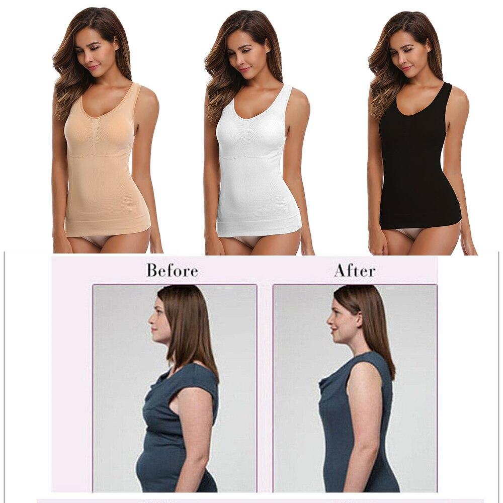 Women 39 S Pajamas Sets Body Shaper Slimming Tops Push Up Bra Tank Top Underwear Slimming Vest Shapewear in Tops from Underwear amp Sleepwears