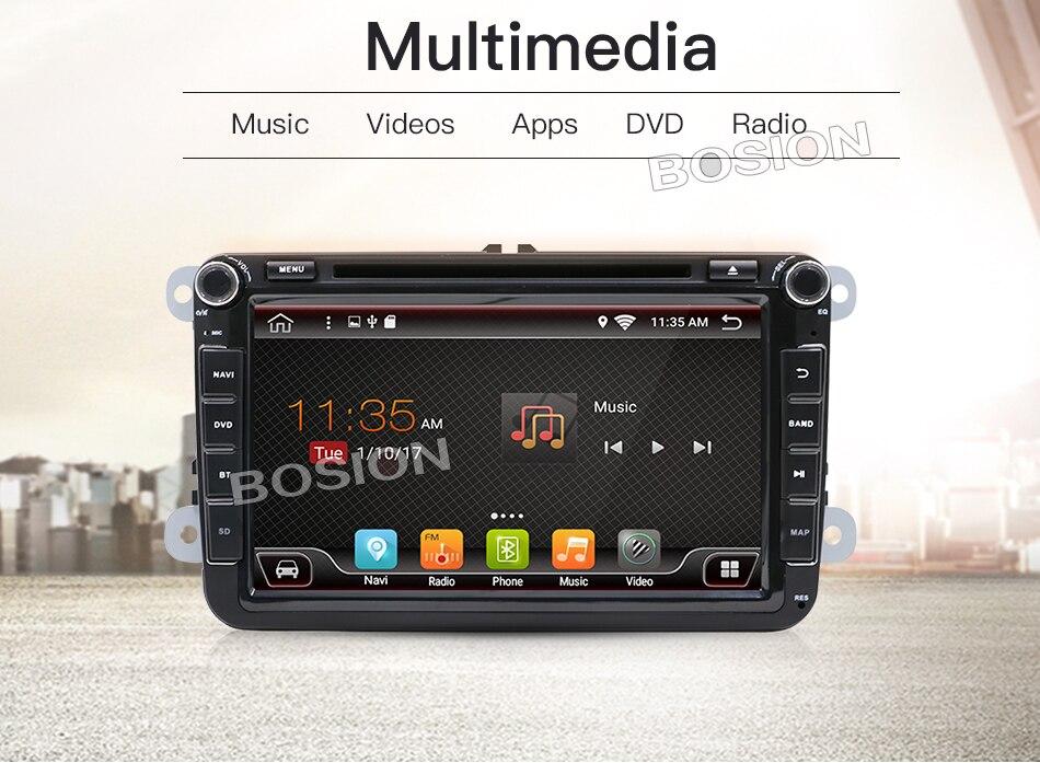 Au tableau de bord De Voiture stéréo Android 7.1 Double 2Din 8 pouce Voiture DVD Lecteur SD AUX-IN CFC CARTE Pour VW/ volkswagen/POLO/PASSAT/Golf/Skoda/Seat