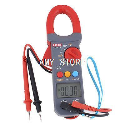 LCD Digital AC Voltage Amp Resistance Clamp Meter Multimeter Multimeter LC-823 цена