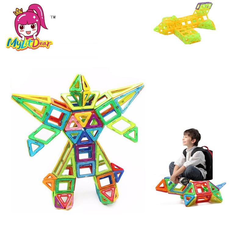 100 Stücke Mini Größe Magnetischen Bausteine Bau Magnetische Designer Spielzeug Modell Bauen Kits Spielzeug Für Kinder Magnet Ziehen