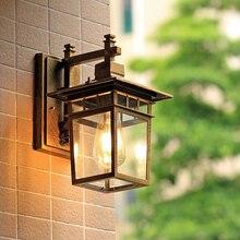 MLZAOSN Retro Outdoor LED Wall Lamp Balcony European Modern Waterproof Corridor Aisle Courtyard Bedroom Stairs LED Wall Light