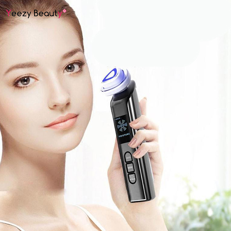 5 in 1 Electroporation RF Radio Frequency Facial LED Photon Skin Care Device Face Lifting Tighten