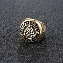 Stalen Ringen Voor Mannen Viking Gothic Groothandel Veel Bulk Punk Mannelijke Man Ring Gold Mens Antieke Biker Vintage