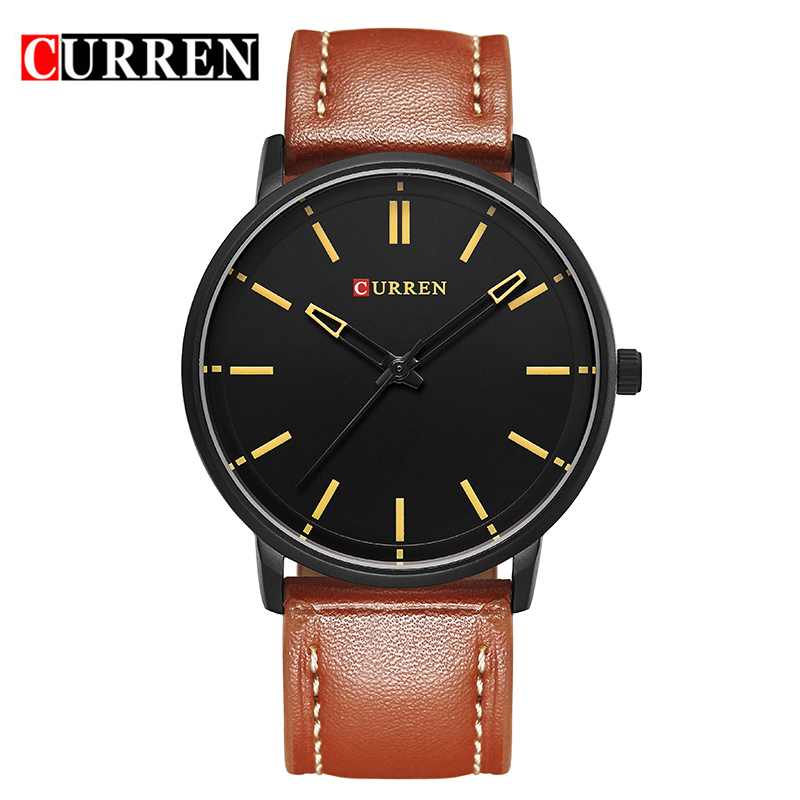 CURREN Luxury Brand Relogio Masculino Date Leather Casual Watch Men Sports Watches Quartz Military Wrist Watch Male Clock 8233 top luxury brand curren watches men fashion casual quartz hour date clock leather strap man sports wristwatch relogio masculino
