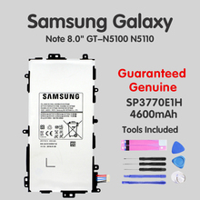 100% OriginalTablet Battery SP3770E1H For Samsung Galaxy Note 8.0 N5100 N5120 N5110 Replacement Tab Batteries 4600mAh Akku Tools