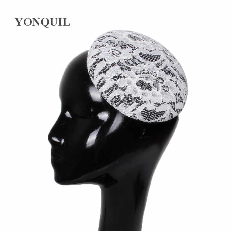 3 Style as picture Round Sinamay with lace Fascinator Bases DIY for women wedding Millinery mini pillbox hats hair accessories